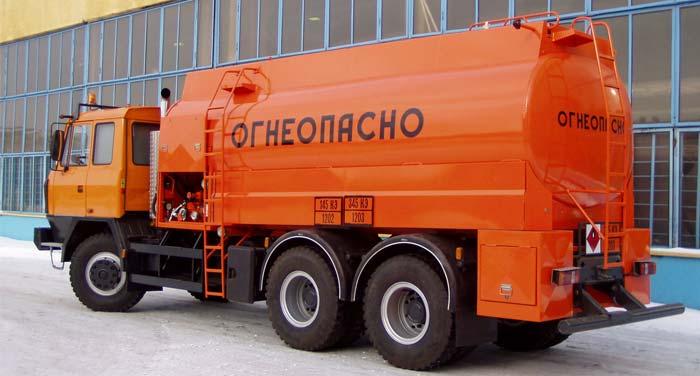 Транспорт для перевозки нефтепродуктов