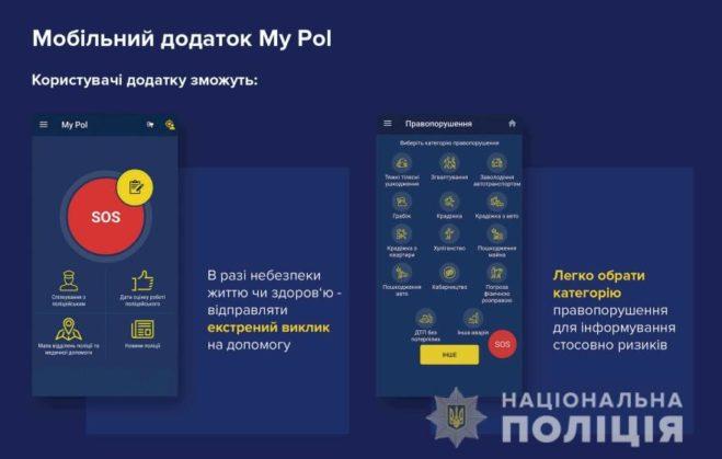 Все жители Львовщины при помощи мобильного приложения «My Pol» могут вызвать полицию моментально!