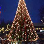 Новогодняя ёлка Ивано-Франковска радует жителей города необычными «танцами»
